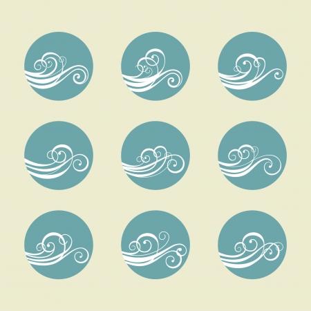 Vector set wave element
