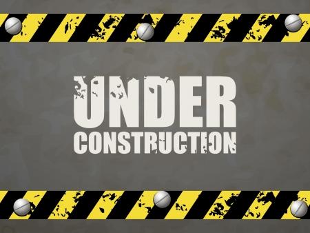 Under construction abstract illustration