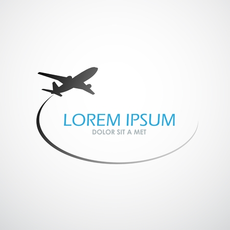 Illustration for Airplane symbol vector design - Royalty Free Image