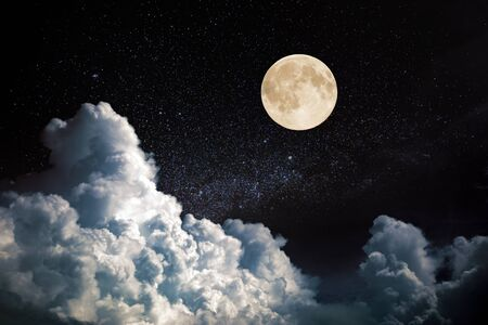 Photo for full moon on night sky - Royalty Free Image