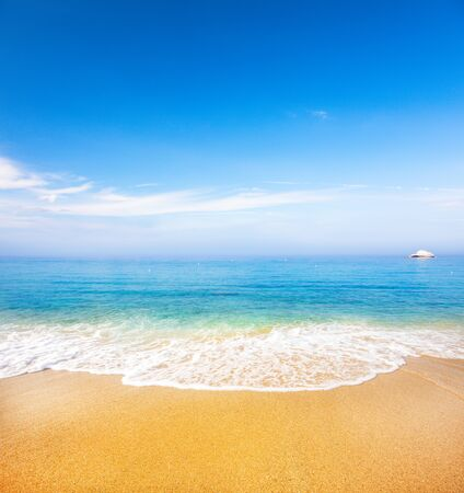 Photo for beautiful tropical beach and sea - Royalty Free Image