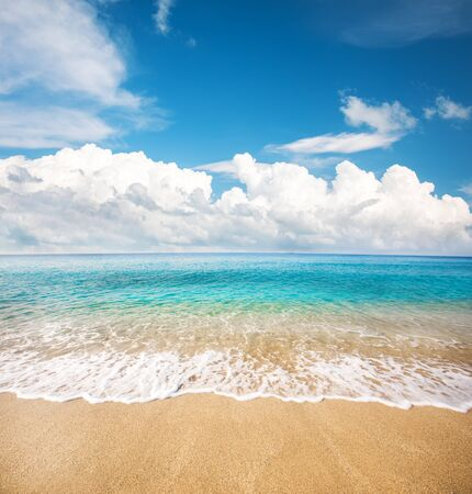 Photo for beautiful beach and tropical sea - Royalty Free Image