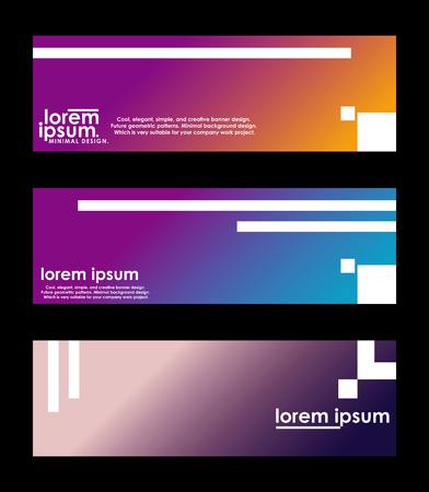 Illustration pour Minimal banner design. Colorful halftone gradient. Future geometric patterns. very suitable for your work project. - image libre de droit