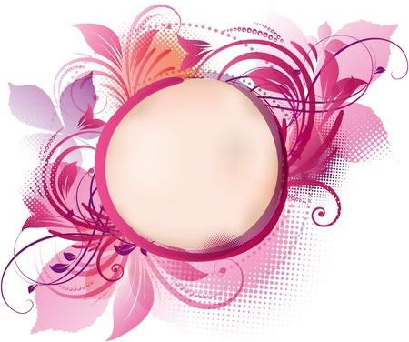 Illustration pour art of a pink floral background with copy space - image libre de droit