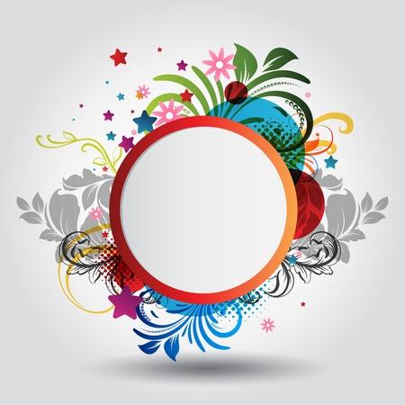Illustration pour Beautiful circle background with floral ornamentation - image libre de droit