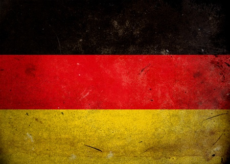 The flag of Germany on old and vintage grunge texture