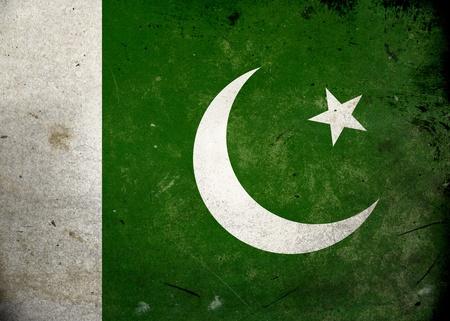 Flag of Pakistan on old and vintage grunge texture