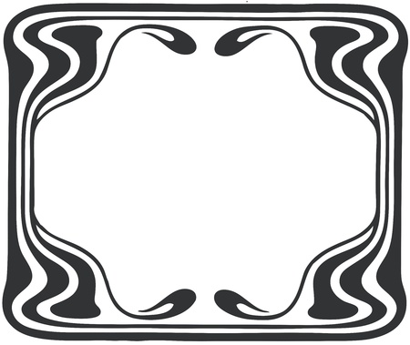 Beautiful decorative floral frame, art nouveau design element