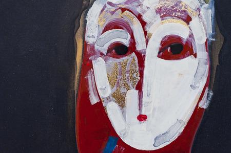 Foto de Painted canvas fragment, abstract art painting detail texture background - Imagen libre de derechos