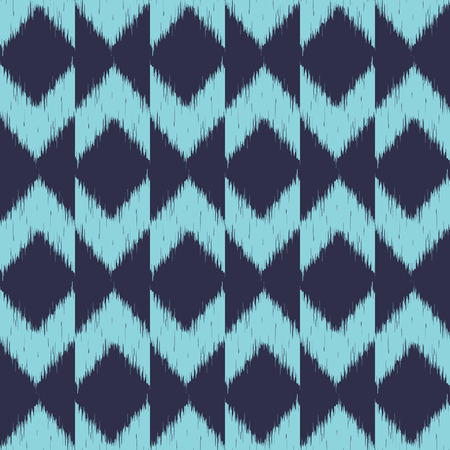 Blue Chevron Pattern Wallpaper Mural