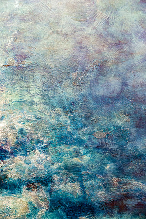Photo for Painted canvas fragment, abstract art painting detail texture background - Royalty Free Image
