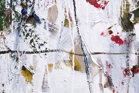 Photo pour Painted canvas fragment, abstract art painting detail texture background with brushstrokes - image libre de droit