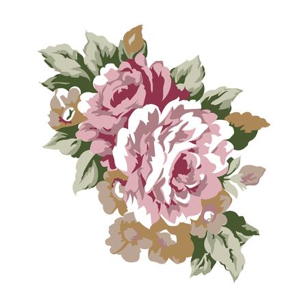 Illustration pour Vintage roses design element, classic floral ornament illustration - image libre de droit