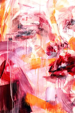 Photo pour Close up detail, abstract background, fragment from painted canvas - image libre de droit