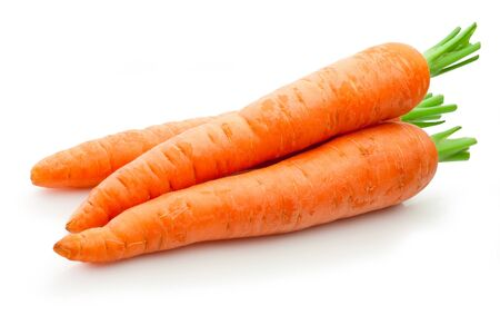Photo for Fresh carrots isolated on a white background - Royalty Free Image