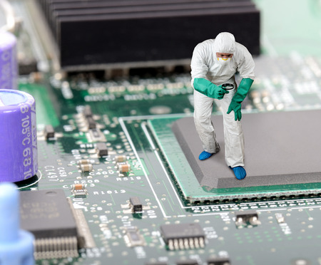 IT engineer diagnosing a problem