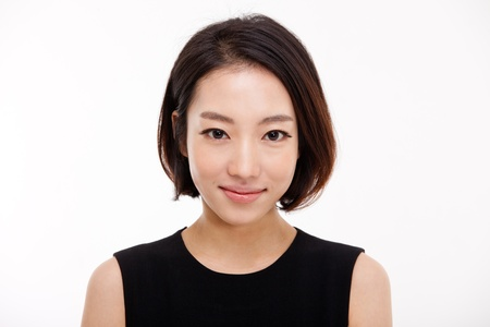 Young Asian pretty business woman close up portrait