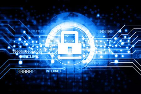 Photo pour Digital Internet security - image libre de droit