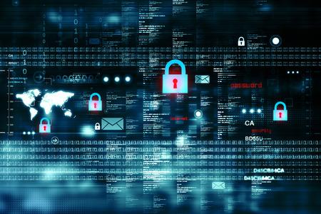 Foto de Digital Internet security - Imagen libre de derechos