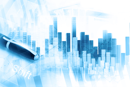 Photo for Economical stock market graph - Royalty Free Image