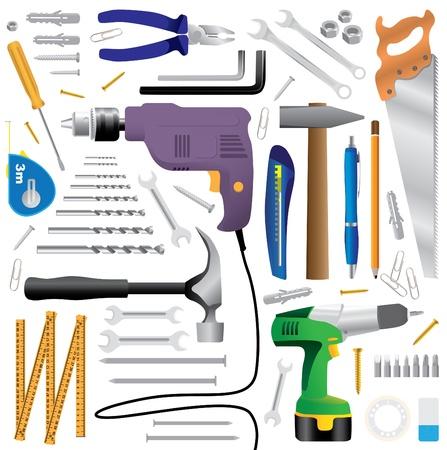 Illustration pour dyi tool equipment - realistic illustration - image libre de droit
