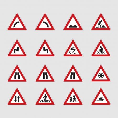 set of road signs - illustration