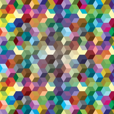 Abstract background from color cubes