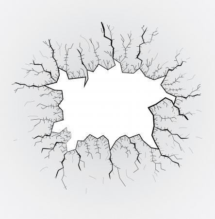 broken glass table, cracks, illustration