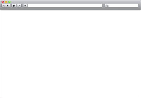 Blank Window Of Internet Browser Template Illustration Royalty