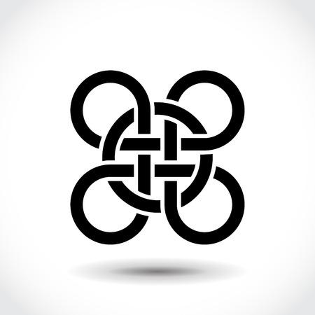 Celtic symbol, logo icon design template