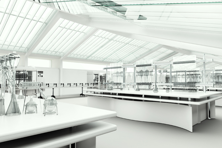 Photo for Clean modern white laboratory - Royalty Free Image