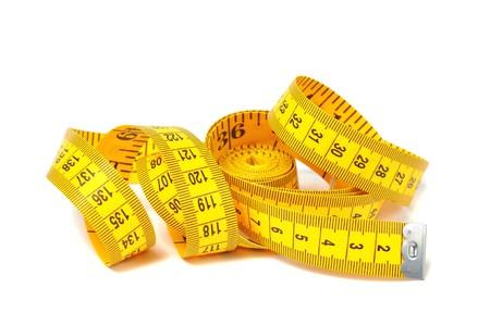 Measure tape over white