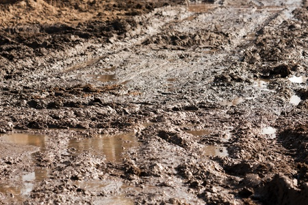 Mud dirt on off-road drive land road track outdoor
