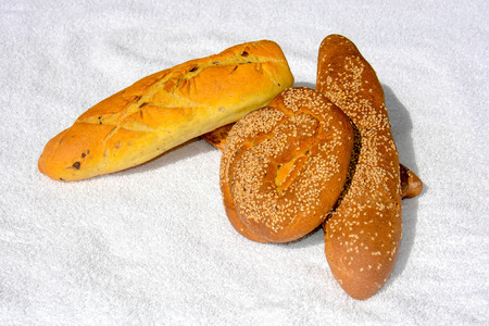 very rare sicilian bread with sesame seeds