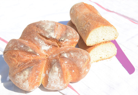 sicilian bread just coocked with wood oven