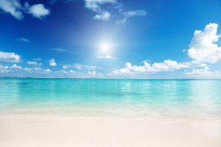 sand and Caribbean sea