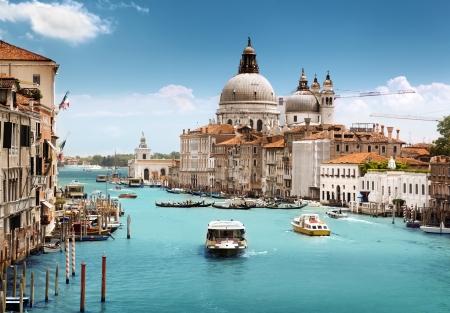 Foto per Grand Canal and Basilica Santa Maria della Salute, Venice, Italy  - Immagine Royalty Free