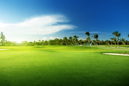 Foto per golf course in Dominican republic - Immagine Royalty Free