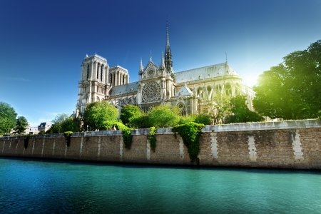 Photo pour Notre Dame  Paris, France  - image libre de droit