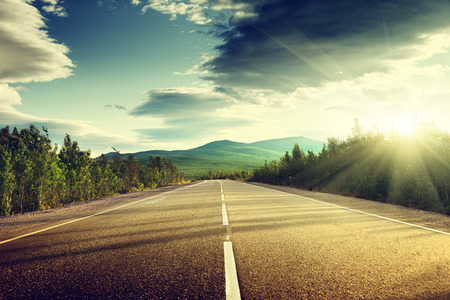 Photo for road in mountains - Royalty Free Image