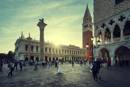 San Marco in sunset time, Venice, Italy