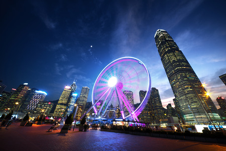 Photo for Observation Wheel, Hong Kong - Royalty Free Image
