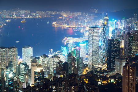 Photo for Hong kong from the Victoria peak - Royalty Free Image