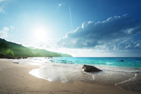 Photo pour Anse Lazio beach at Praslin island, Seychelles - image libre de droit