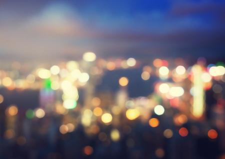 Photo pour blurred lighhts from peak Victoria, Hong Kong - image libre de droit