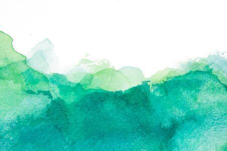 Foto de Green and blue texture with watercolor stains - Imagen libre de derechos