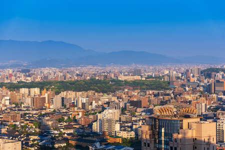 Foto für View skyline of fukuoka downtown city cityscape with blue sky, Fukuoka, Japan - Lizenzfreies Bild