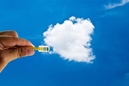 Cloud computing innovation digital concept
