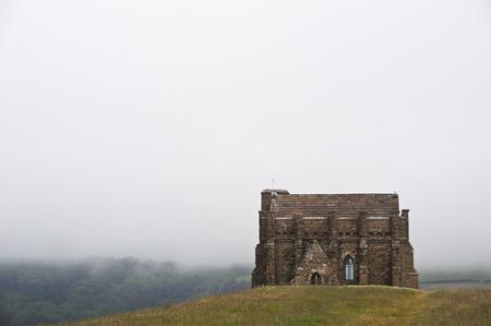 disused church on a hilltop