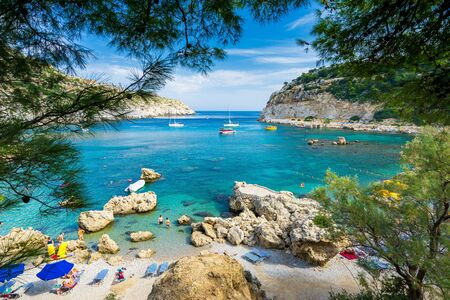 Photo for Beautiful day at Anthony Quinn Bay near Faliraki on the Island of Rhodes Rodos Greece Europe - Royalty Free Image